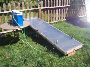 Build your own flat panel solar thermal collector