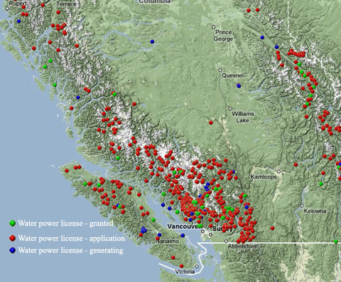 Private Power Applications in BC