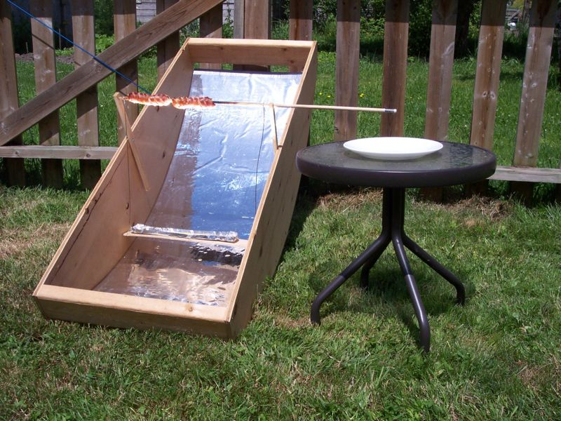 Homemade Solar Power Hot Dog Cooker