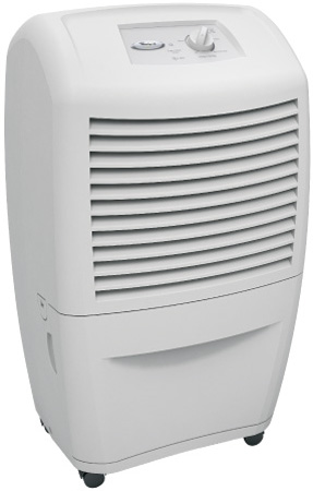 A portable dehumidifier