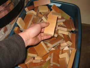 Rocket stove wood bin