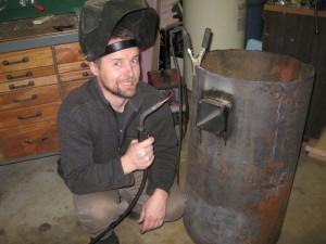 Rocket stove crazy welder